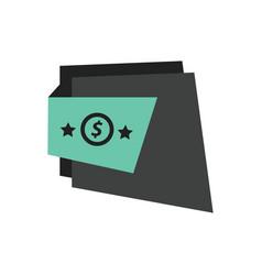 Label design star black green vector