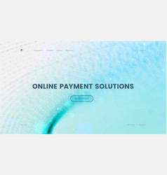 Landing page template with a blue particles vector