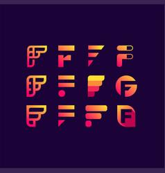 Letter f mark vector