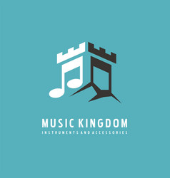 logo design idea for music store vector image