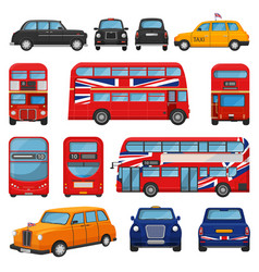 London car british cab taxi and uk red bus vector