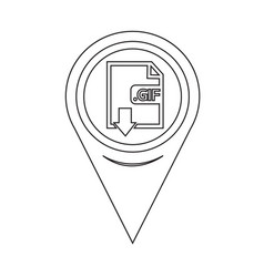 Map pin pointer image file type format gif icon vector