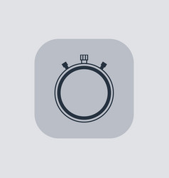 Modern stopwatch icon on gray background vector