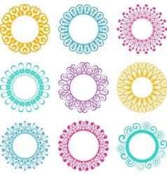 Napkin lace design elements vector