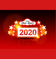 new year marquee 2020 with vector image