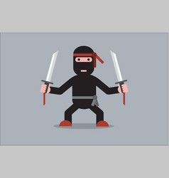 ninja cartoon character vector image