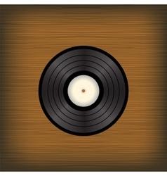 Old vinyl disc vector