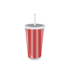 plastic cup soda theater beverage vector image