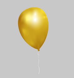 realistic golden balloon vector image