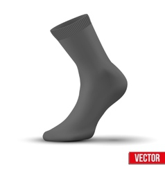 Realistic layout of black sock A simple example vector