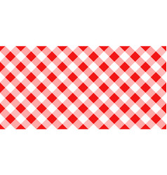 Red and white argyle tablecloth seamless pattern vector