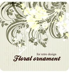 Retro Floral Ornament Design vector image