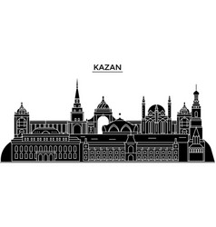 Russia kazan architecture urban skyline vector