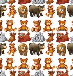 Seamless bears vector image