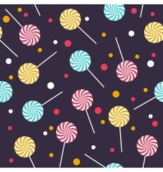 Seamless pattern with colorful lollipops vector