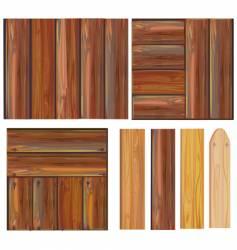 Set wooden boards vector