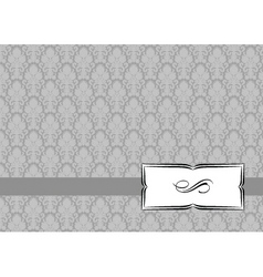 small ribbon frame and background vector image