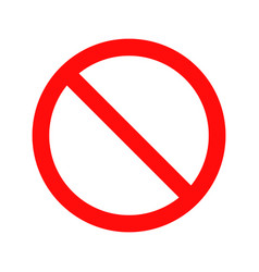 Stop prohibition red circle symbol vector