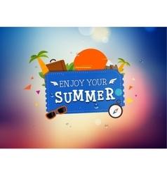 Summer trip logo design vector image