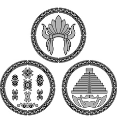 Symbols indians latin america vector