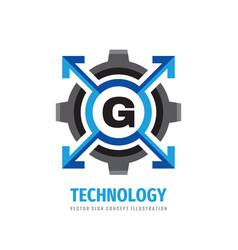 technology concept logo design letter g creative vector image