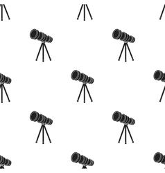 Telescope icon in black style isolated on white vector