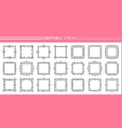 text frame monogram decor design banner set vector image