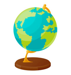 the globe in flat style spherical model earth vector image