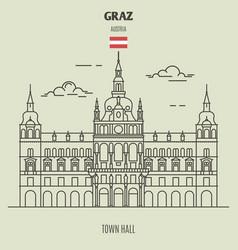 town hall in graz austria vector image