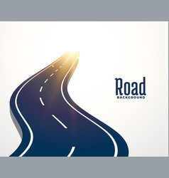 Winding road curve path background vector