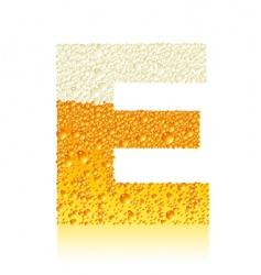 alphabet beer e vector image vector image