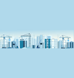 buildings constructions vector image