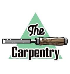 Color vintage Carpenter emblem vector image