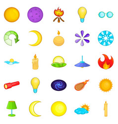 illuminant icons set cartoon style vector image vector image
