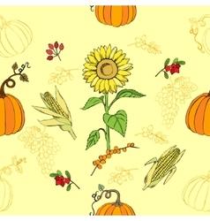 Seamless pattern Thanksgiving vector image