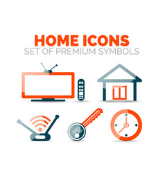 set of home equipment and elements icons vector image vector image