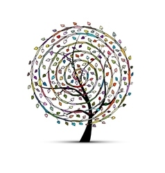 Spiral floral tree for your design vector image vector image
