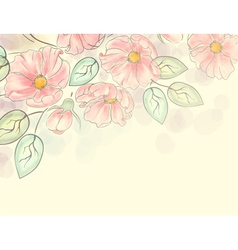 Watercolor floral ornament vector image