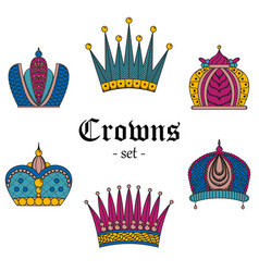 a set of crowns for design vector image