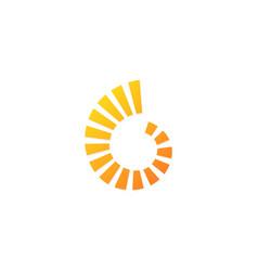 circle shape loop technology logo vector image