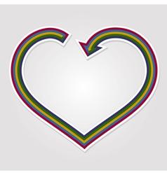 Heart arrow background vector image