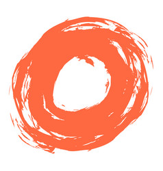 red brushstroke circle form vector image