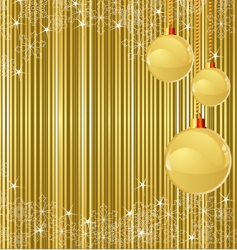 Christmas stripes and decorations vector image vector image