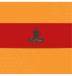 Coffee break label vector image vector image