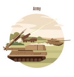 ground military transport template vector image