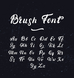 hand written lettering font vector image