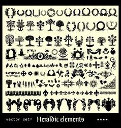 Heraldic elements floral vector
