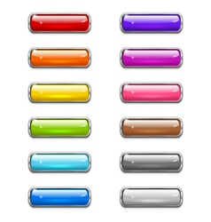 Modern shiny buttons vector image vector image