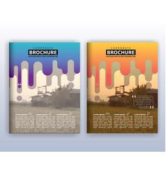 multipurpose modern corporate business flyer vector image