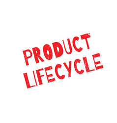 product lifecycle rubber stamp vector image